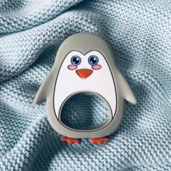 Gryzak silikonowy Pingwin Grey