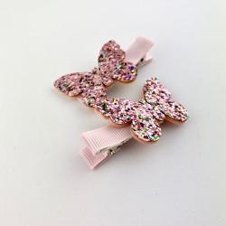 Spinki Motylki Pink