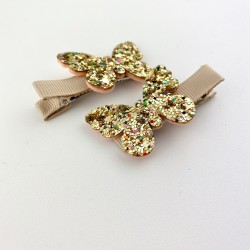 Spinki Motylki Gold